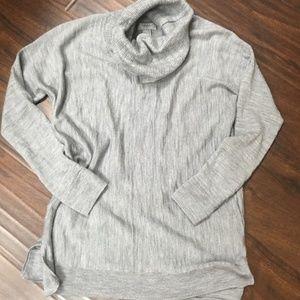 Wool medium heather grey cowl neck tunic-Small